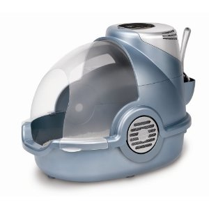 The Jestsons meets Futurama porta-potty. This one sports superior odor control while your cat is humiliated.